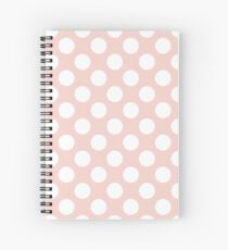 Polka Dots, Spots (Dotted Pattern) - Pink White Spiral Notebook