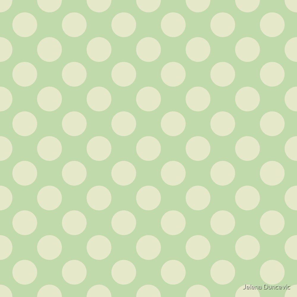 Polka Dots, Spots (Dotted Pattern) - Green  by sitnica
