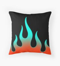CLASSIC FLAME HOT RODS Throw Pillow