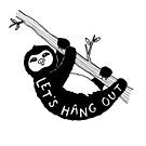 Let's Hang Out Sloth by madebymarzipan
