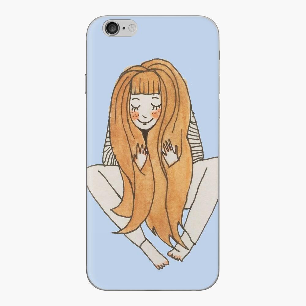 Red hair girl iPhone Skin