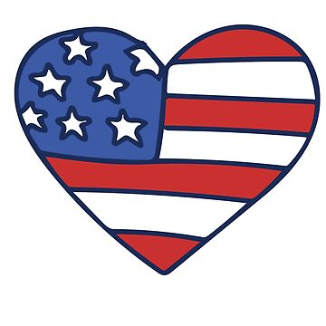 Proud to Be American Heart Flag USA  by Boogiemonst