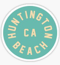 Huntington Beach - Kalifornien - grüner Kreis Sticker