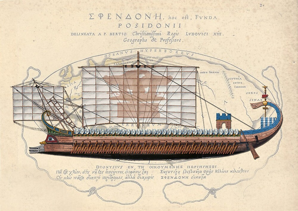 Postcard - Roman Trireme by TheCollectioner