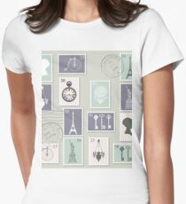 Postage Stamps  Women's Fitted T-Shirt