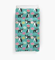 Boston Terrier donuts cute gifts for pure breed dog lover boston terriers owners Duvet Cover