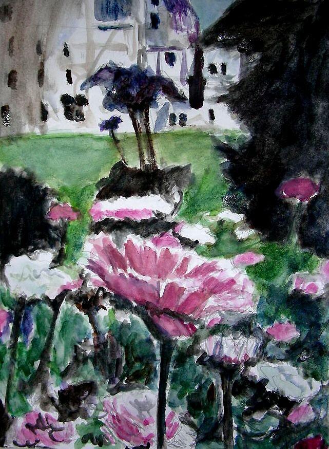 Pink Flowers by Rosanna Jeffery