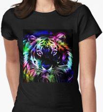 Psychedelic Tiger Women's Fitted T-Shirt