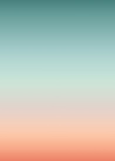 Color Gradient Sunset Sky Colors Poster By Ohaniki Redbubble