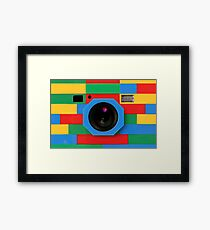 Retro Classic Toys Rainbow Camera Framed Print
