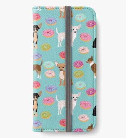 Chihuahua donuts dessert dog breed gifts for dog person chiwawa lovers iPhone Wallet