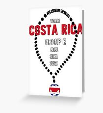 World Cup 2018 Team Costa Rica Greeting Card
