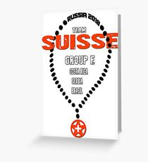 World Cup 2018 Team Suisse Greeting Card