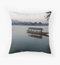 Kyoto Fishing Throw Pillow