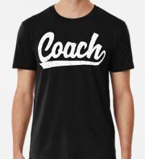 Klassische Trainer-T-Shirts | Vintage sportlich inspirierte Sport Coach Trainer Shirts Premium T-Shirt
