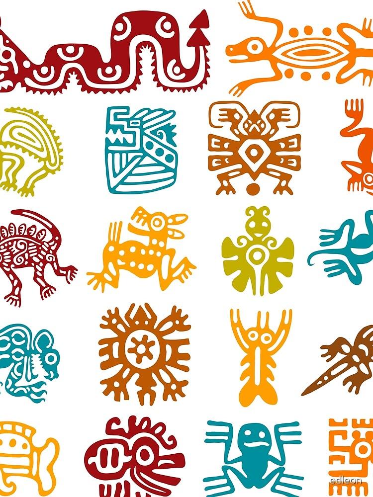 Aztec Symbols Ukrandiffusion