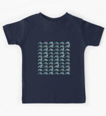 Kawaii Cartoon Grunge Narwhals with hats Kids Clothes