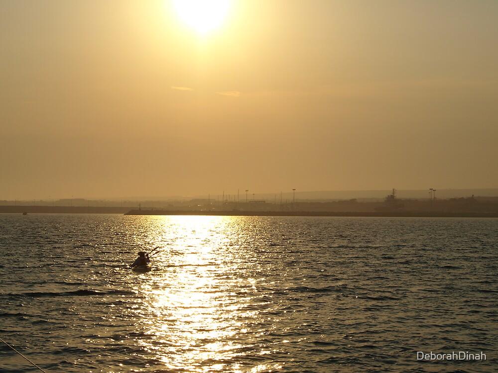 Sunset over Sicily by DeborahDinah