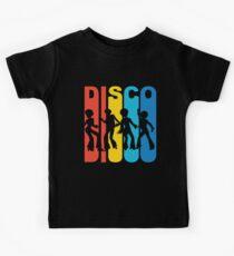 Vintage Retro 1970's Style Disco Dancers Kids Tee