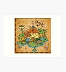 Lámina artística Mapa del mundo