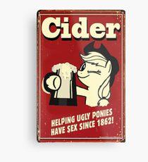 Applejack - Cider Metal Print