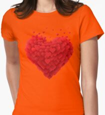 Valentines Heart Women's Fitted T-Shirt