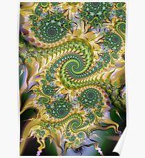 swirly spiral pattern Poster