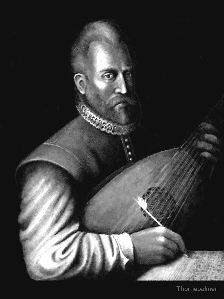 John Dowland with Lute by Thornepalmer