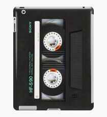 Classic retro Black cassette tape iPad Case/Skin