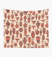MCM Greek Vases Wall Tapestry