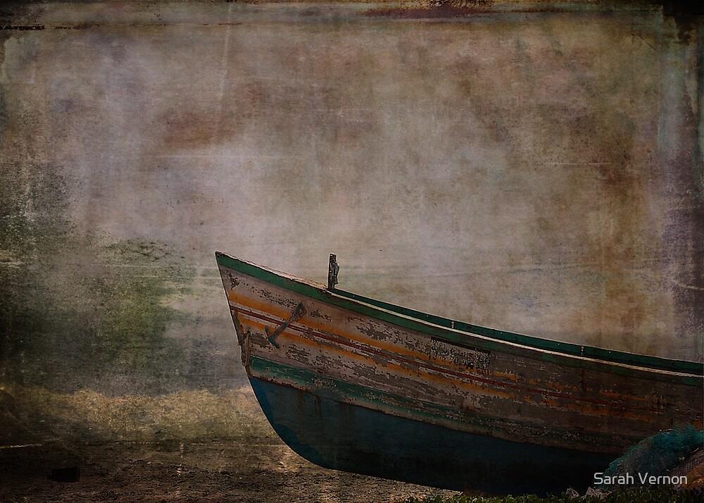 Beached Dinghy by Sarah Vernon