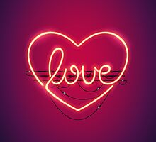 Love Heart Neon Sign by Voysla