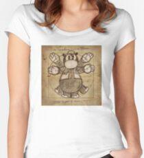Horus Hippoptumus Amphibius Vitruvian Fitted Scoop T-Shirt