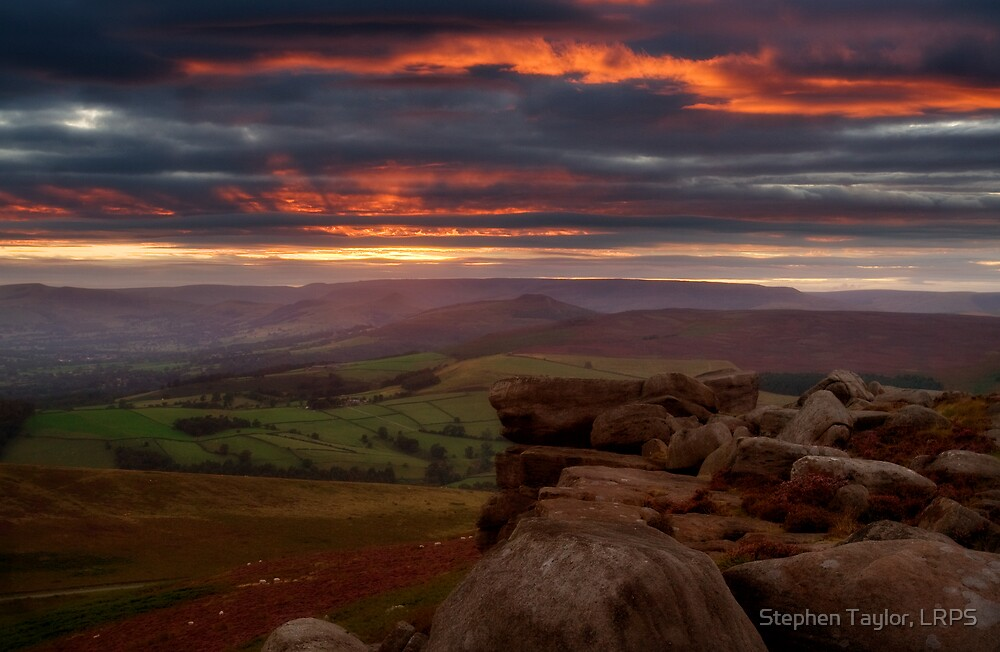 Sunset at Stanage by Stephen Taylor, LRPS