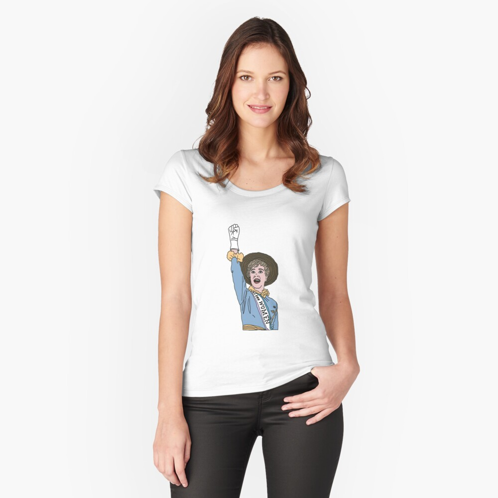 Sister Suffragette Women's Fitted Scoop T-Shirt Front