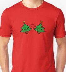 Adorable Kawaii Christmas Tree Couple T-Shirt