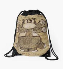 Horus Hippoptumus Amphibius Vitruvian Drawstring Bag