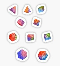 Rainbow Dice Sticker