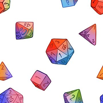 Rainbow Dice by alysaavery