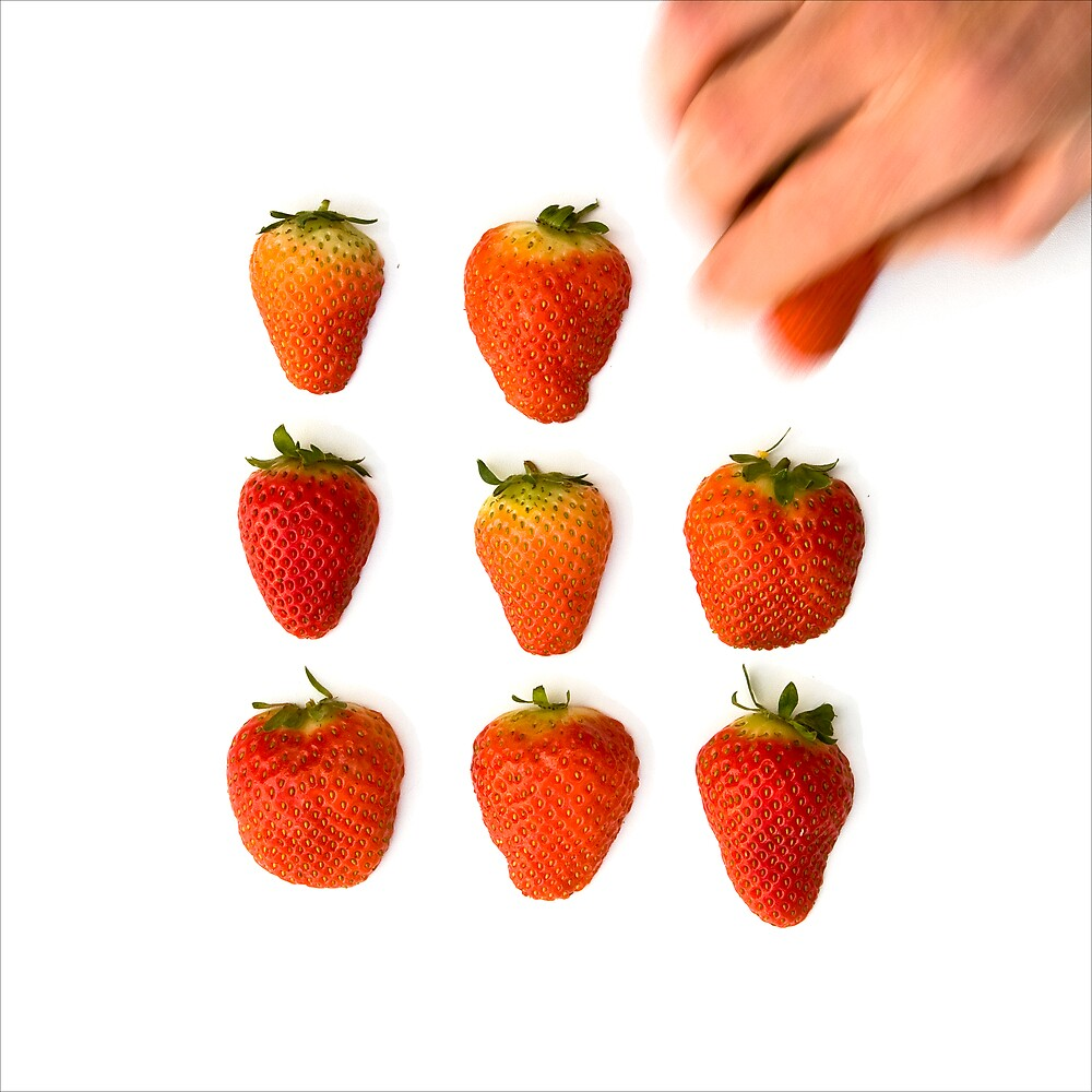 Form of Food - Strawberries by Michael Morffew