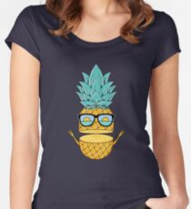 Pineapple Summer Sunglasses Women's Fitted Scoop T-Shirt
