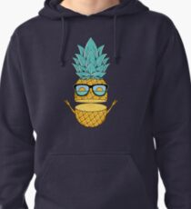 Pineapple Summer Sunglasses Pullover Hoodie