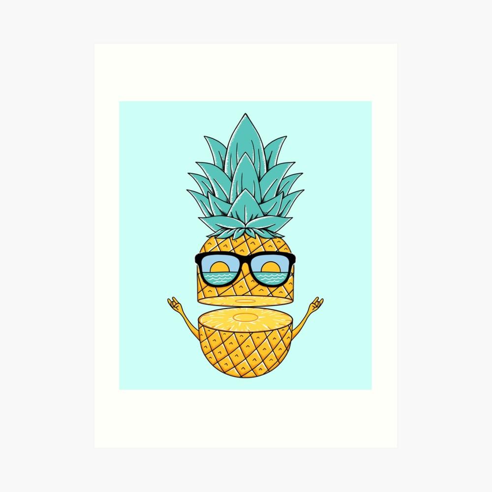 Pineapple Summer Sunglasses Art Print