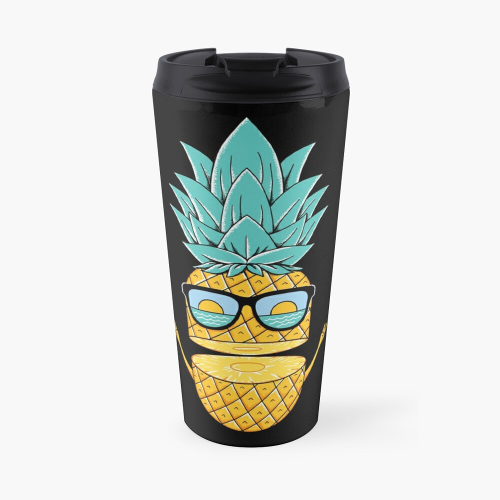 Pineapple Summer Sunglasses Travel Mug