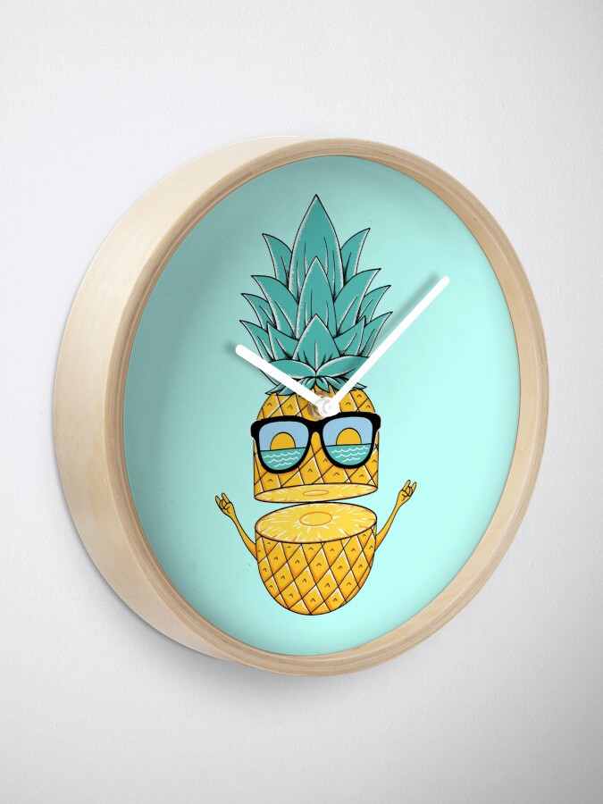 Alternate view of Pineapple Summer Sunglasses Clock