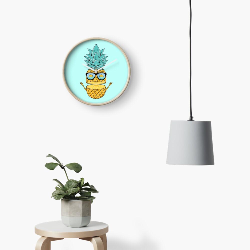 Pineapple Summer Sunglasses Clock
