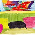 Still Life with Black Dog by danvera