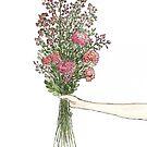 Bouquet of Flowers Print by AnnasEyeforArt