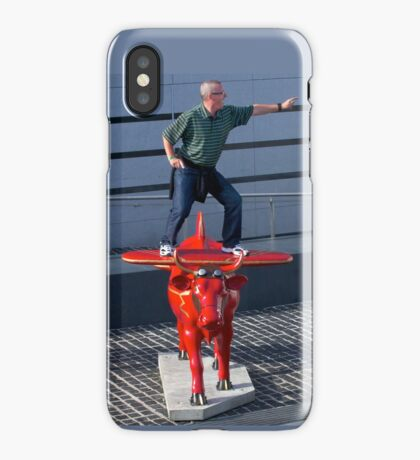 Amelia Air Cow - with passenger iPhone Case