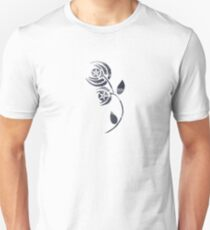 Black and White Abstract Poppy Unisex T-Shirt